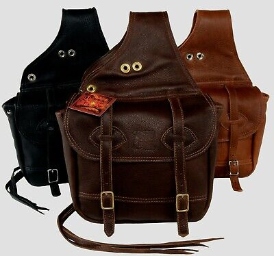 Olde Time Western Leather Saddlebag - Hand Crafted in USA - Tucker / Circle Y