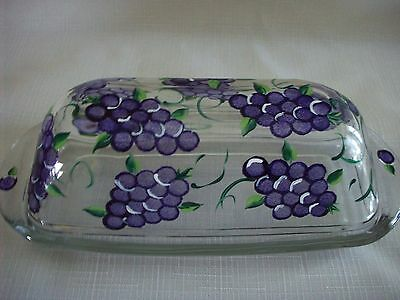 Hand painted Grape butter dish