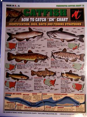 "CATFISH - How to Catch ""EM"" Chart - Tightline Tightlines Publications #13"