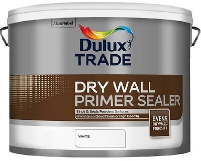 Dulux Trade Drywall Primer Sealer White 10 Litres Tracked Postage *Coverage 15m2