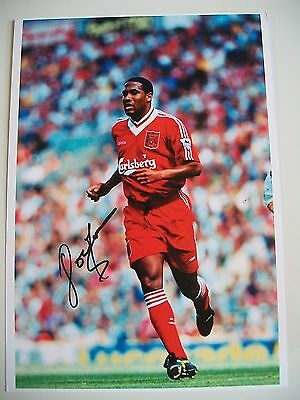 Liverpool Legend John Barnes 12 x 8 inch photo, personally signed by him
