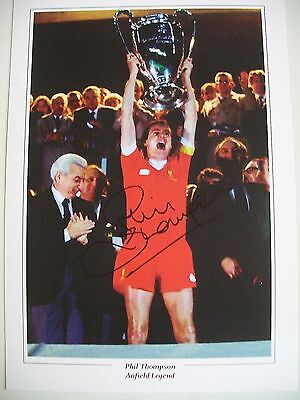 Liverpool Legend Phil Thompson 12 x 8 inch print, personally signed by him