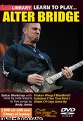 LICK LIBRARY Learn to Play ALTER BRIDGE Mark Tremonti Tutor Blackbird GUITAR DVD