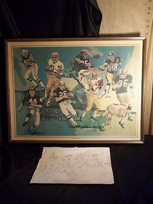 VINTAGE 1976 Dick Mahoney Seagram's Famous Wide Receivers 18X24 LYNN SWANN ++