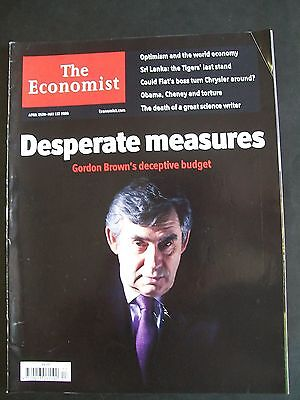 The Economist Magazine. April 25th - May 1st, 2009. Volume 391. Number 8628.