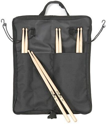 4 Pairs Of Drumsticks + Drum Stick Bag Storage Case / Holder