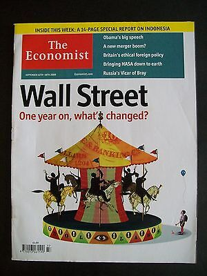 The Economist Magazine. September 12th - 18th, 2009. Volume 392. Number 8648.