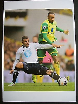 Nathan Redmond of Norwich City, 12 x 8 inch photo personally signed by him.