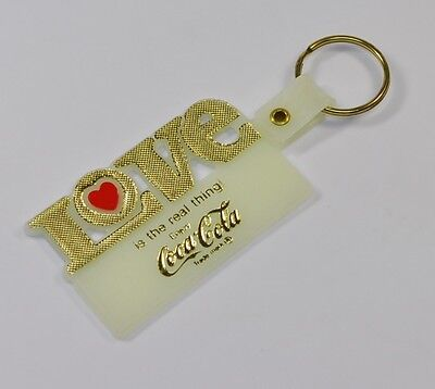 Coca-Cola USA Schlüsselanhänger leuchtet grün Key Chain LOVE is the real thing