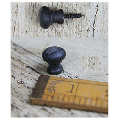 Set Of 2 Small Antique Craft Cast Iron Button Spice Drawer Knobs Button 16Mm Dia