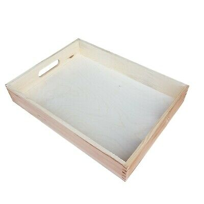 Plain Wood - Wooden Serving Tray 35cmx25cmx6.5cm Decoupage