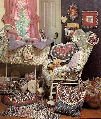 COUNTRY BABY braiding patterns: braided rugs; diaper bag Shirley Botsford