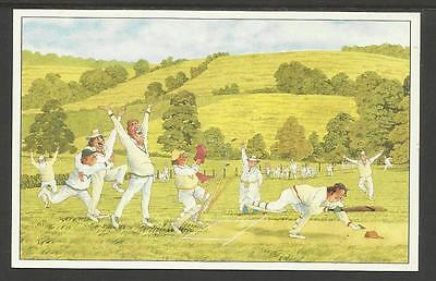 STEVE GARNER COMIC CRICKET POSTCARD No.7
