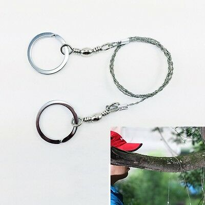 Emergency Camping Hunting Wire Saw Survival Metal Ring Army Issue Cutter Tool UK
