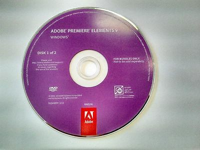 Videoschnitt-Software Adobe Premiere Elements 9 Vollversion Windows Lizenz & DVD