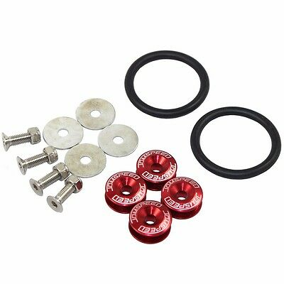 Red Jdmspeed Aluminum Quick Release Fasteners Kit For Bumper & Trunk Hatch
