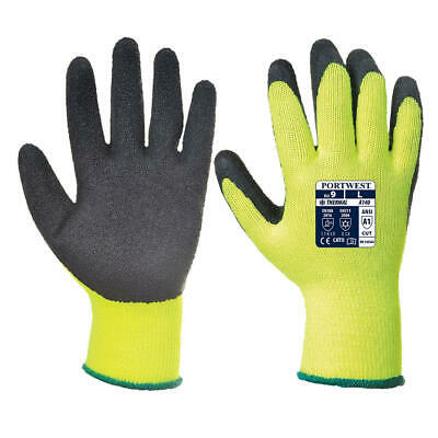 Hi Vis Cold Store / Freezer / Thermal Grip Safety Work Gloves