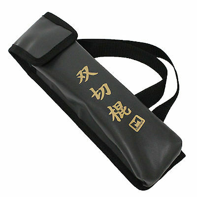 Nunchaku Carrying Case Bag Flap Top Loop Shoulder Straps Size for Two Nunchucks