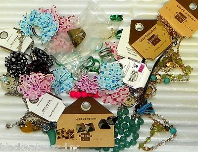 Wholesale Lot of 50 NEW Assorted Costume Jewelry Rings, Necklaces, Earrings
