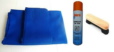 BLUE SPEED/FAST-NO NAP PROFESSIONAL POOL TABLES CLOTH 7x4 BED & CUSHIONS STRIP
