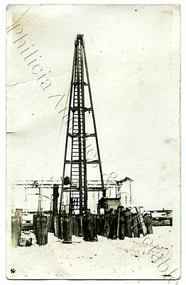 C.1920'S RP NPU POSTCARD PORT ADELAIDE  BUILDING SITE PYLONS TOWER SA o67.
