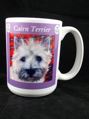 """Cairn Terrier Coffee Mug Puppy Dog Collector Novelty 14 oz Cup Dual Sided 4.5"""""""