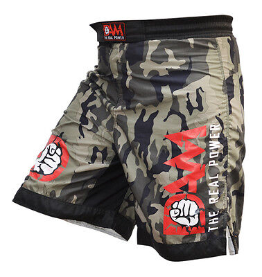 NEW DAM Pro MMA Fight Shorts Camouflage UFC Cage FightGrappling MuayThai Boxing