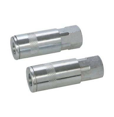 Silverline 238283 Euro Air Line Bayonet Female Thread Coupler 2pk 1//4 Inch BSP