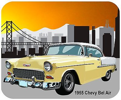 Mouse Pad Custom Thick Mousepad - 1955 Chevy Bel Air - Add Any Text For Free