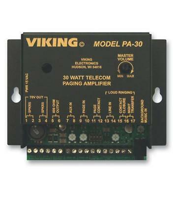 New Viking Pa-30 30 Watt Paging Amplifier