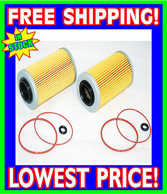 2 Sea Doo 4-TEC Oil Filters & O-Ring Kits RXP RXT GTX GTI RXP-X RXT-X 2002-2012