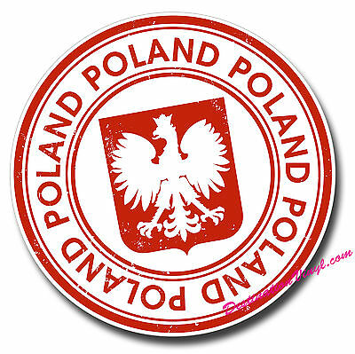 2 x Glossy Vinyl Stickers - Poland Polska Flag Car Laptop Bike Sticker  #0030