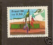 BRAZIL 1986 ANTARCTIC BASE FLAGS  1v Mint Never Hinged