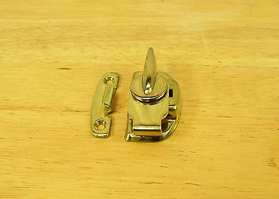Solid Brass Window Sash Lock Set w/Screws -