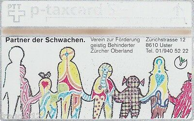 Switzerland - Phone Card Taxcard Ptt - Partner Der Schwachen (1) - Fr. 5