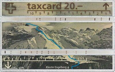 Switzerland - Phone Card Taxcard Ptt - 250° Ascensione Titlis (1) - Fr. 20