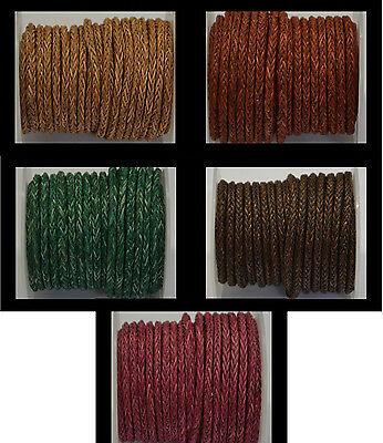 100% Real Bolo Braided Cord Round - 4mm (8)String Lace Thong Jewellery - HQ