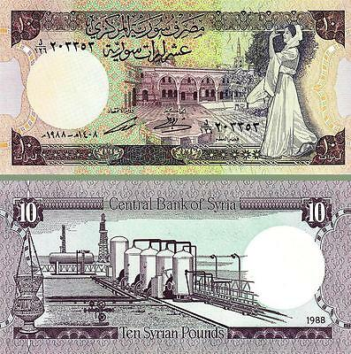 Syria 10 Pounds 1988 Uncirculated P.101D