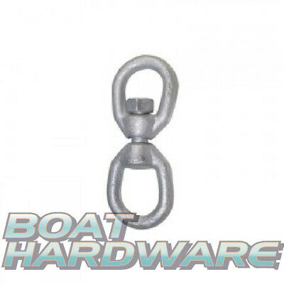 Chain Swivel 8mm Galvanised Eye/Eye ideal for sea anchor drouge marine mooring
