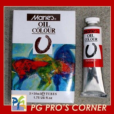 50ML Fine Quality Artist Oil Paints- Choose 6 tubes from 30+ colors!