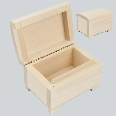 Unpainted Wooden Small Chest / Box For Jewellery / Art Craft Decoupage GIFT BOX
