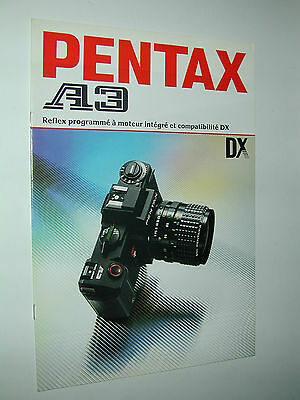 PENTAX  A3 catalogue publicitaire photographie photo