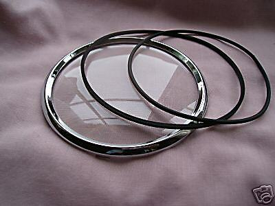 "5"" CHROME BEZEL KIT, TRIUMPH TR2/TR3 Speedo/Tacho"