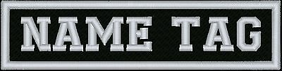 "Custom Embroidered 4"" x 1.5""  Name Tag Patch Motorcycle Biker"