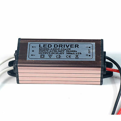 Waterproof  10W Watt High Power LED Power Supply Driver Constant Current 27-30V