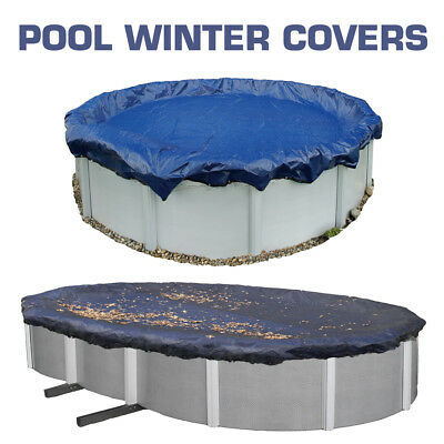 Aboveground Round Oval Swimming Pool Winter Debris Cover +Saver 12/15/16/18/24Ft