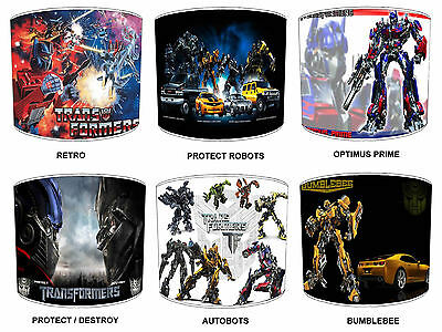 Transformers Lampshades Ideal To Match Children`s Transformers Autobots Duvets.