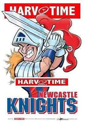 Newcastle Knights Mascot Limited Edition Harv Time Print Paul Harvey