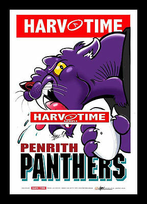 Penrith Panthers Mascot Limited Edition Harv Time Print Framed Harvey