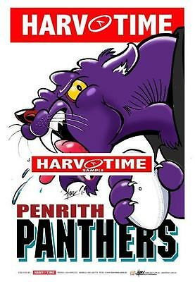 Penrith Panthers Mascot Limited Edition Harv Time Print Paul Harvey